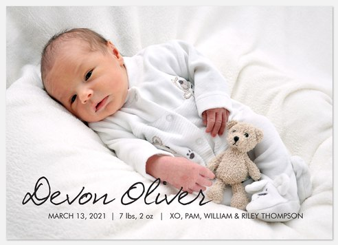Chic New Announcement Baby Birth Announcements