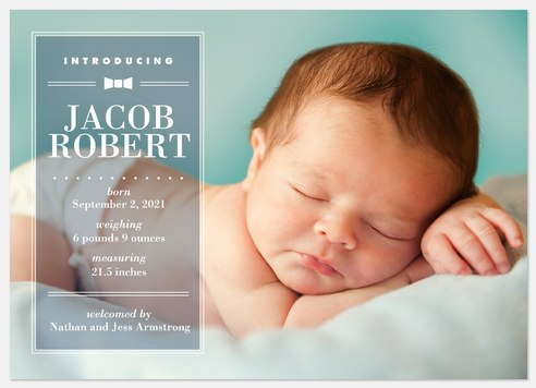 Sweet Prepster  Baby Birth Announcements