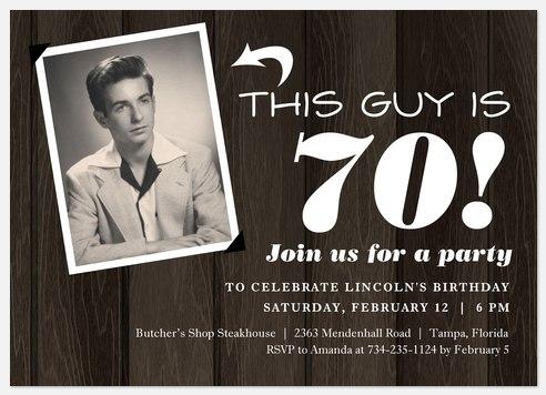 Retro Panelling  Adult Birthday Invitations