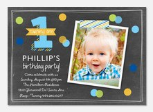 Photo Birthday Invitations - One to Remember
