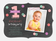 Photo Birthday Invitations - Confetti One