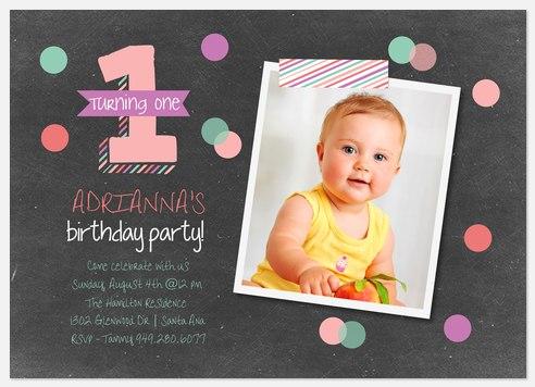Confetti One Kids' Birthday Invitations