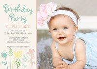 Girl Birthday Party Invitations - Garden Festivities