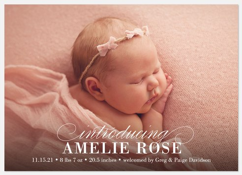 Gentle Lullaby  Baby Birth Announcements