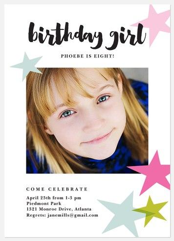 Star Power Kids' Birthday Invitations