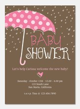 Classic Polka Dots - Baby Shower Invitations