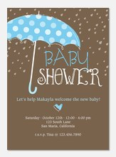 Classic Polka Dots -  Baby Shower Invites