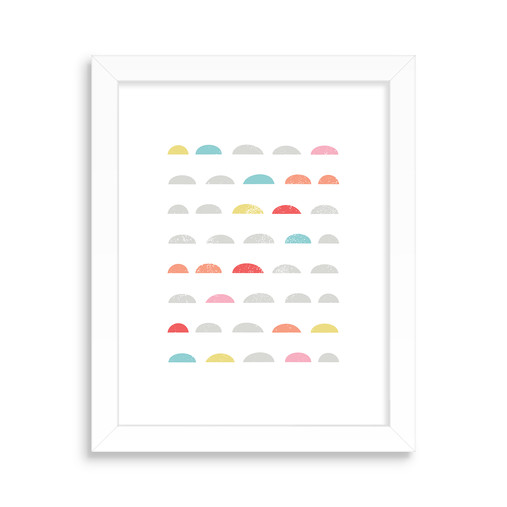 Wall Art, Colorful Scallops Design