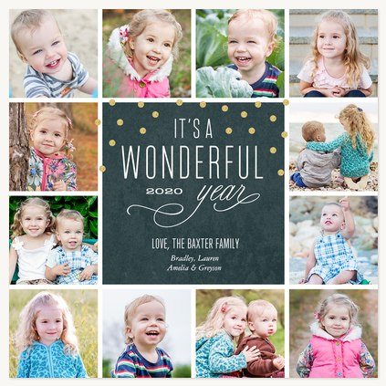 A Wonderful Year Photo Holiday Cards