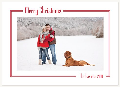 Photo Holiday Cards Classic Christmas Greeting