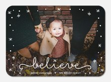 Sparkling Signature - Baby Christmas Cards