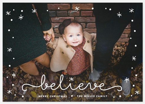 Sparkling Signature Holiday Photo Cards