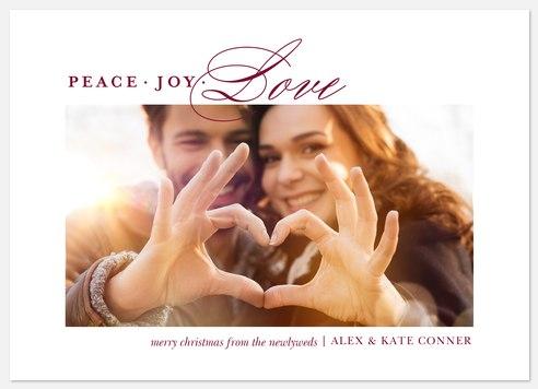 Newlywed Christmas  Holiday Photo Cards