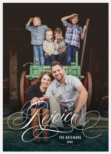 Luxe Rejoice  Holiday Photo Cards