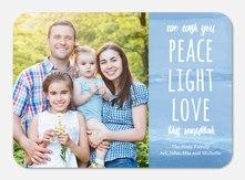 Hanukkah cards - Peace, Light & Love