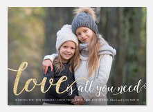 All You Need - holiday photo cards