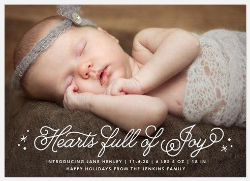 Joyful Hearts  Holiday Photo Cards