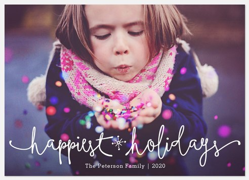 Festive Script  Holiday Photo Cards