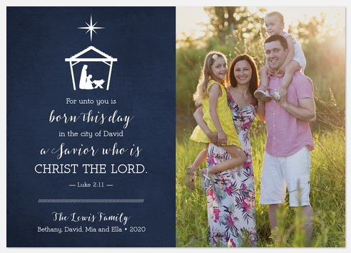 Holy Savior  Holiday Photo Cards
