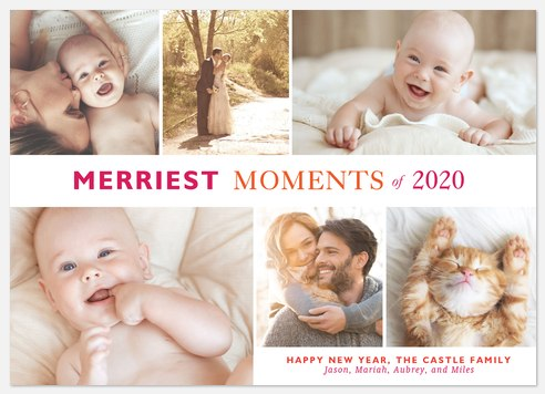 Merriest Moments  Holiday Photo Cards