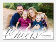 Elegant Cheers  - new years photo cards