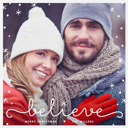 Magical Snowflakes Holiday Photo Cards