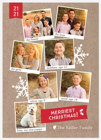 Snowy Scrapbook  Holiday Photo Cards