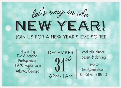 Let's Sing Holiday Party Invitations