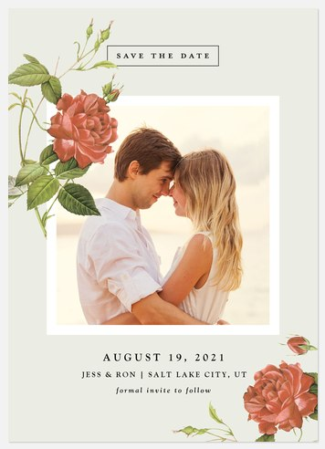Vintage Floret Save the Date Photo Cards