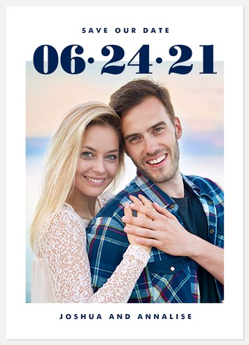 Best Day Save the Date Photo Cards