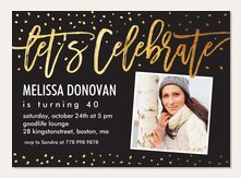 ROSE: Adult birthday photo invitations