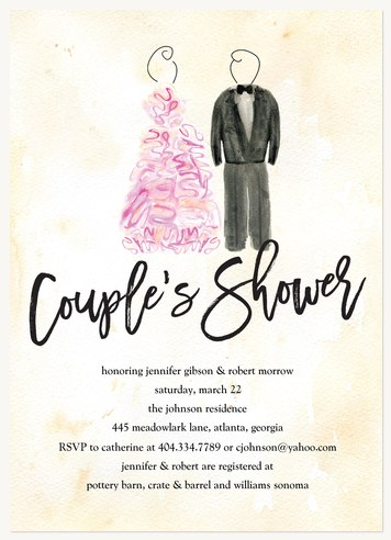 His & Hers Bridal Shower Invitations