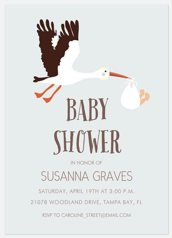 A Little Visit   Baby Shower Invitations
