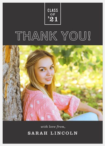 Highest Honor Thank You Cards
