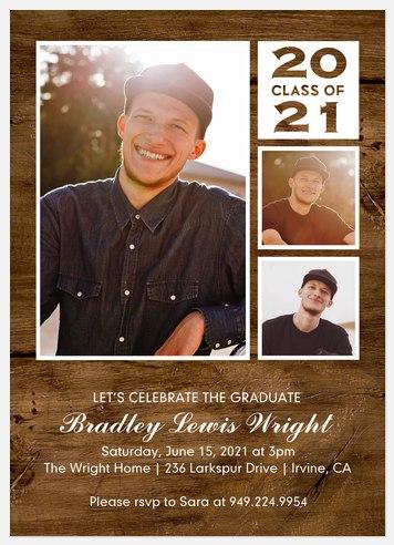 Rustic Charisma Graduation Cards