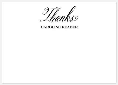 Collegiate Script  Thank You Cards
