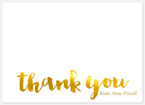 Radiant Honor Thank You Cards