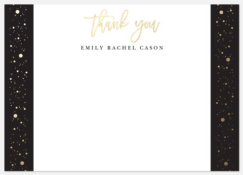 Graduation Confetti Thank You Cards