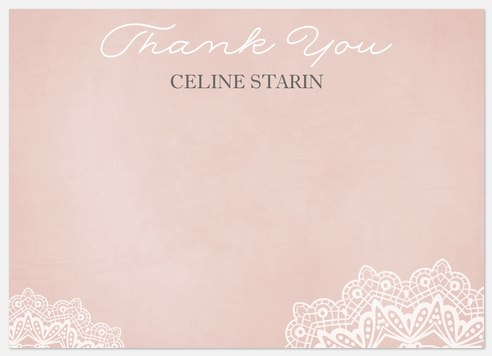 Pretty Lace Thank You Cards