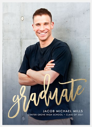 Shining Pride Graduation Invitations