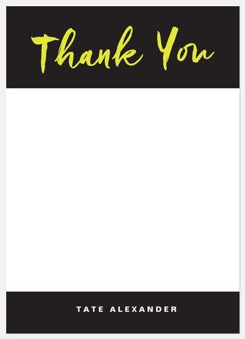 Handwritten Script Thank You Cards