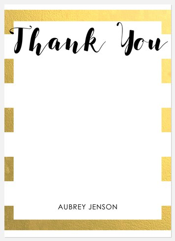 Charming Shimmer Thank You Cards