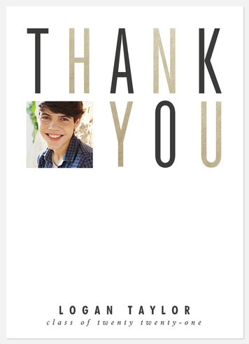 Bold & Modern Thank You Cards
