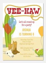 Boy Birthday Invitations - Giddy Up