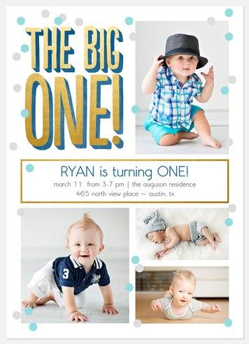 Floating Confetti Kids' Birthday Invitations