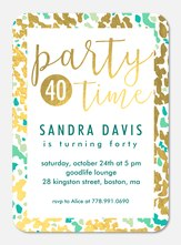 Speckled Print -  Adult Birthday Party Invitations