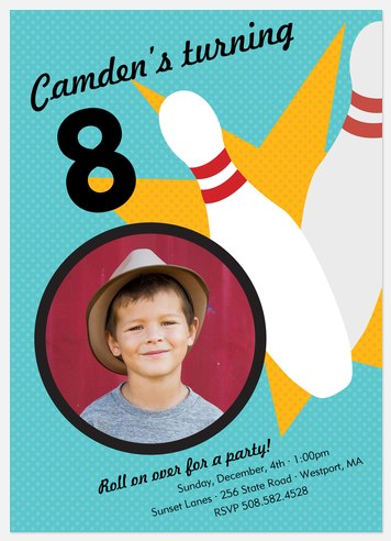 On a Roll Kids' Birthday Invitations
