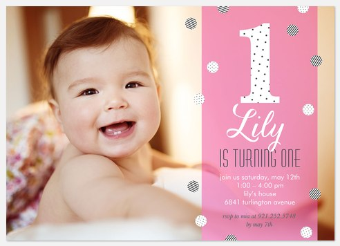 Posh Confetti Kids' Birthday Invitations