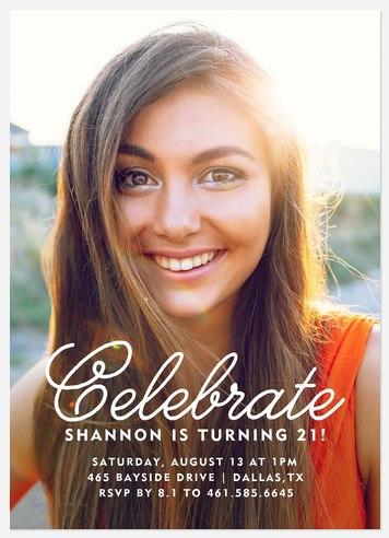 Delightful Celebration Adult Birthday Invitations