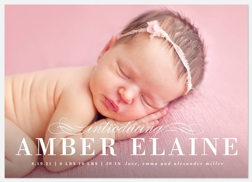 Chic Baby Baby Birth Announcements